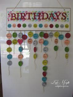Birthdays Calendar
