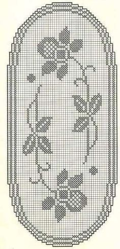 Vintage Crochet Patterns, Crochet Stitches Patterns, Doily Patterns, Crochet Designs, Cross Stitch Patterns, Filet Crochet, Crochet Chart, Crochet Motif, Crochet Doilies