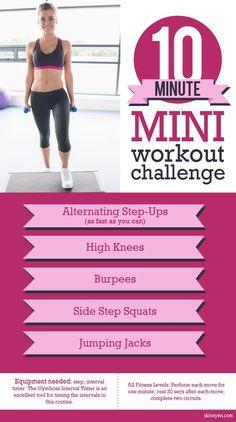 Take this 10 Minute Mini Workout Challenge!  #mini #workout #challenge