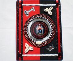 Elegua Decorated Ita Notebook Eleggua Santeria by OshaDesigns