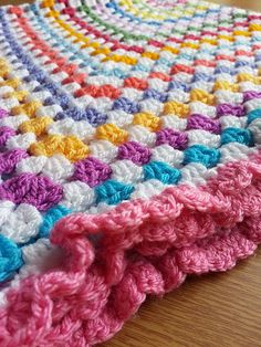 Crochet Baby Blanket Finished