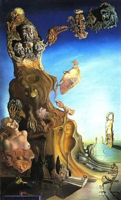 Salvador Dali - Imperial Monument to the Child-Woman, 1929 Dali Artwork, Salvador Dali Paintings, Spanish Artists, Art Moderne, Fantastic Art, Surreal Art, Monet, Oeuvre D'art, Picasso