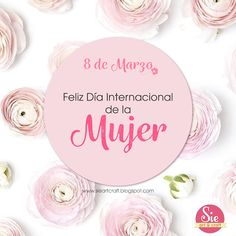 Sie - Art & Craft: Feliz día a todas ♥ Birthday Morning, 8th Of March, Ladies Day, Arts And Crafts, Place Card Holders, Social Media, Instagram, Cocktail, Boutique