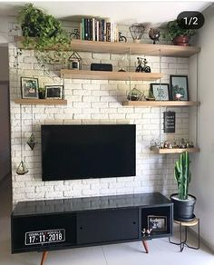 Minimalist home Best Farmhouse Living Room TV Wanddekoration Ideen Living Room Tv Unit, Home Living Room, Farm House Living Room, Room Design, Living Room Decor, Home Decor, House Interior, Apartment Decor, Living Room Tv Wall