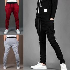 Mens Casual Jogger Slacks Dance Sportwear Baggy Harem Trousers Jogging Sweatpant #Unbranded #CasualPants #Fitness