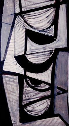 Sir Terry Frost 'Black and White Movement', 1952 © The estate of Sir Terry Frost Paintings I Love, Colorful Paintings, Oil Paintings, Black And White Artwork, Art Terms, Art Uk, Imagines, Light In The Dark, New Art