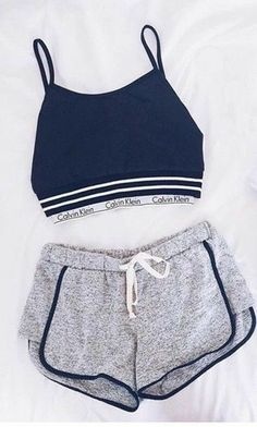 Sporty Outfits – Page 7966433537 – Lady Dress Designs Cute Lazy Outfits, Sporty Outfits, Teen Fashion Outfits, Athletic Outfits, Mode Outfits, Outfits For Teens, Trendy Outfits, Summer Outfits, Girl Outfits