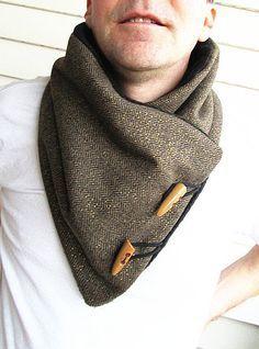 men's collar scarf brown - Google zoeken