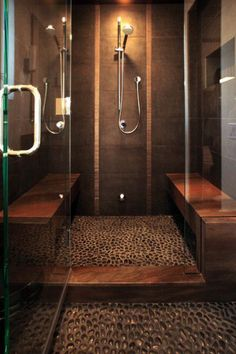 love the flooring to this shower... and i guess the shower too :]