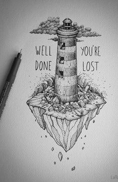 Always a lighthouse, always a man and always a city.
