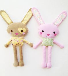 Bunny Sewing Pattern  Mini Bunny Plush Toy by GandGPatterns, $8.00