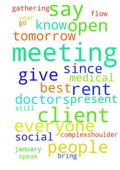 Important meeting tomorrow night -  Lord, I bring before You my request to let this meeting with the doctorstomorrow go well, give me the wisdom and peace needed and let Your words flow through my mouth. Let the Medical Doctors present be willing to be open minded. I dont know exactly what is best to say or not to say, I just pray You help me that the way I speak and what I say is the best possible. I also pray for a nice social evening for everyone present. I also pray I will find the…