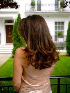 Paul Edmonds Hair Salon Knightsbridge London Long Brunette Blow Dry with Bouncy Curls