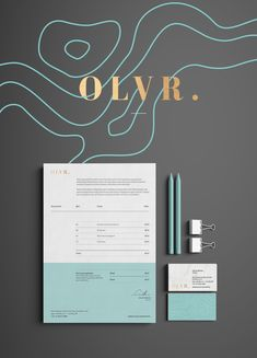 Branding I love the gold, aqua and charcoal color palette. The geographic lines are simple and elegant. Web Design, Design Logo, Brand Identity Design, Corporate Design, Business Design, Typography Design, Creative Design, Print Design, Branding Design