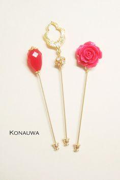 Pink and Gold Hijab Pin Set by Konauwa on Etsy, $15.00