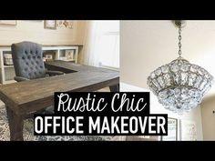 DIY L-Shaped Farmhouse Wood Desk + Office Makeover | Hometalk