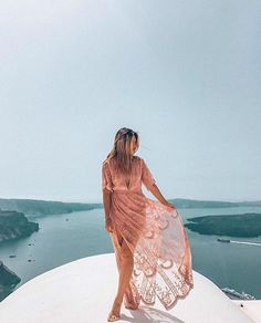 Happy Tuesday from Greece and our babe @finding.jules! ✨  .  Featured: Bardot dress in rose blush  Photographer: @neri.kar