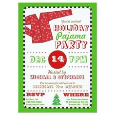 Celebrate the season in fun style with a pajama holiday party! Invite guests to don their silliest Christmas pj's and join in the fun at this popular holiday-themed party. Features a festive red flannel snowflake pajama top and holiday red, green and white color scheme. Gender: unisex. Age Group: adult. Christmas Pajama Party, Christmas Party Themes, Holiday Pajamas, Xmas Party, Pj Party, Holiday Parties, Winter Parties, Christmas Entertaining, Work Party