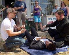 Jensen Directing a Season 10 Episode