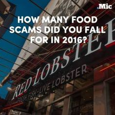 From fake lobster to parmesan cheese with wood pulp  2016 was quite a year for food sca #news #alternativenews