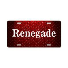 Jeep Renegade Diamond Plate Aluminum License Plate > Renegade Diamond Plate > The Art Studio by Mark Moore other colors available