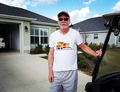 This is awesome! Gaining support all the way from The Villages Florida. As Harold Hall reps the Tiny Dream Homes ToGo shirt in the villages. One of the largest and most advanced retirement communities in the World. Nice to see him enjoying his shirt and the beautiful WINTER weather they are having in Florida lol! Thanks Harold for the picture!