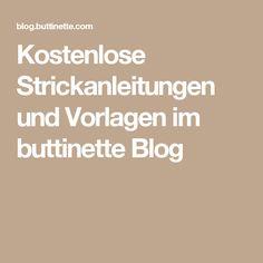 Kostenlose Strickanleitungen und Vorlagen im buttinette Blog