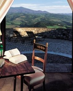 Castello di Velona  ( Castelnuovo Dell'abate, Italy )  Castle Deluxe Rooms are 376 square feet, with valley or courtyard views. #Jetsetter #JSSunrise