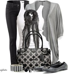 """Black, White, Grey 12 Hour Day"" by angkclaxton on Polyvore"