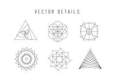 Sacred Geometry Vector Bundle - Illustrations