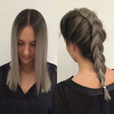 #granny #grannygreatness #grannygrey #wellalife #wella #illumina #braid #hair #longhair #girl #babe #norway