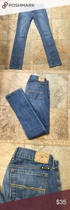 Lucky Brand jeans Lucky Brand Charlie Straight Jeans Size 2/26 regular. Only worn once in the house. Lucky Brand Jeans Straight Leg