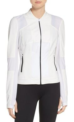 On SALE At 40% OFF! Run Moto Water Resistant Bomber Jacket By BLANC NOIR