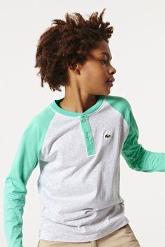 #Lacoste Boy's Long Sleeve #Baseball T-shirt : Boys