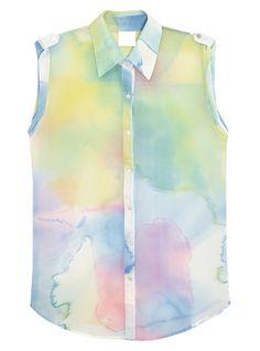 Clouds Tie dye Chiffon Vest