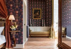 300 years' worth of art and artefacts are strewn throughout the 12 bedrooms, which are finished with reverently-restored antiques and hand-painted wallpaper by de Gournay and Pierre Frey. It's hard to overstate the grandeur: interiors of this calibre are usually roped off and watched over by eagle-eyed attendants, but perhaps the hotel's greatest triumph is that it inspires joie de vivre at every turn – no mean feat when half your furnishings are worthy of a museum. Pierre Frey, Hotels In France, Roll Away Beds, Loire Valley, Neoclassical Architecture, Hand Painted Wallpaper, Hotel Amenities, Marble Fireplaces, Hiding Places
