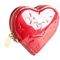 Louis Vuitton Heart Coin Purse.. Jolee says she wants one of these.. smart girl!