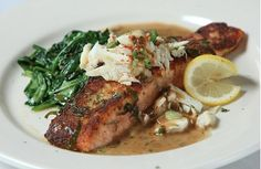 Herb Salmon at Vincent's Italian Cuisine in New Orleans, LA.
