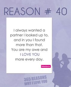 Reasons why I love you #40