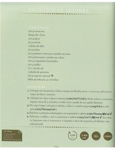 Livro 7 dias com a bimby Food And Drink, Cooking, Recipes, Tasty Food Recipes, Grilled Vegetables, Illustrated Recipe, Couscous, Thermomix, Cucina