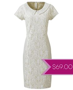 Courthouse Dresses: Plus Size Bonded Lace Dress