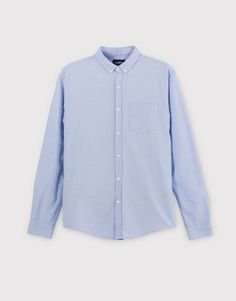 Pull&Bear - hombre - ropa - camisas - camisa oxford básica - celeste - 09470500-I2016