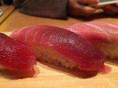 Salmon Sushi from Tsukiji Tamasushi in #tokyo #japan - #imenehunes #food #yum #delicious #salmon #sushi #salmonsushi #tsukijitamasushi