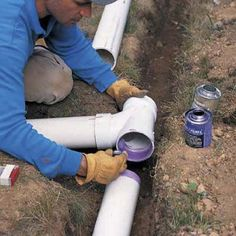 Need to extend your downspout? Connecting downspouts to buried drainpipes can help dry out a wet basement and soggy lawn. Sump Pump Drainage, Gutter Drainage, Backyard Drainage, Landscape Drainage, Drainage Pipe, Backyard Patio, Pvc Gutters, Drainage Solutions