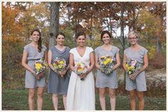 shades of gray bridesmaids