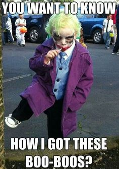 Funny pictures about Little Joker. Oh, and cool pics about Little Joker. Also, Little Joker photos. Old Joker, Joker And Harley, Harley Quinn, Joker Batman, Joker Heath, Superman, Costume Halloween, Kid Costumes, Costume Ideas