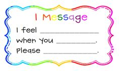 Awesome Teaching Moment freebie - wonderful strategy for teaching kids to express their feelings when someone is bothering them