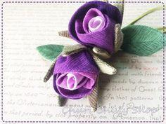 How To ....กุหลาบตูมๆ /Fabric Rosebud Tutorial by ChuriChuly                   มีวิธีทำพร้อม pattern มาฝากค่ะ            ...