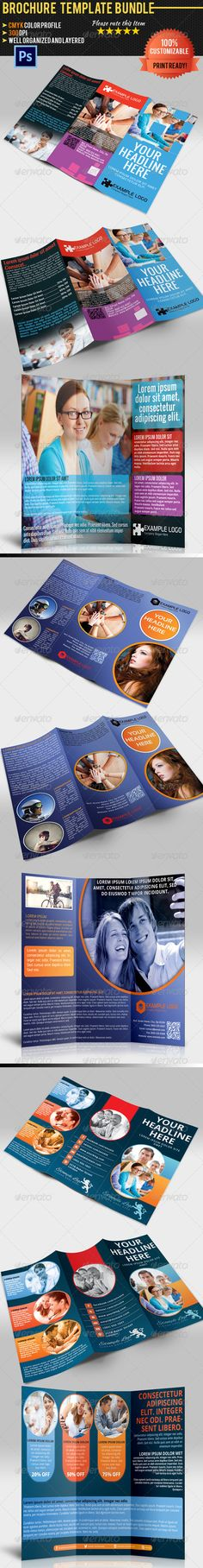 Multipurpose Tri-Fold Brochure Bundle  #GraphicRiver        3x Professional and clean business brochures. Fully layered and very easy to customize. Suitable for corporate and other businesses.   Smart Objects ( Help! )  CMYK Colors  300DPI  Print Ready   Free fonts used. Download links inside read_me.txt   Included Items:  graphicriver /item/multipurpose-trifold-brochure-vol1/4734426  graphicriver /item/multipurpose-trifold-brochure-vol2/4793786  graphicriver…