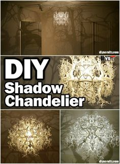 Imagine lying in bed, looking up at the ceiling and feeling as if you are outside. That is exactly what you can do with this amazing DIY chandelier that makes it look as if there are trees surrounding you while you sleep.
